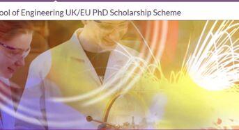 Warwick's School of Engineering UK/EU PhD Scholarship Scheme in UK, 2019