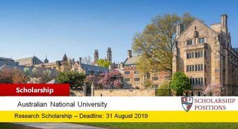 ANU HDR Fee Merit funding for International Student in Australia, 2019
