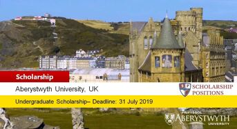 Aberystwyth University International Excellence undergraduate financial aid in UK