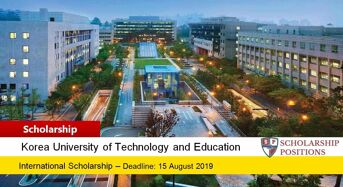Korean Government Research Professor or Postdoctoral Scholarship, 2019