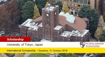 The University of Tokyo Japanese Government (MEXT) Scholarship in Japan, 2020