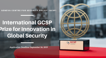 International GCSP Prize for Innovation in Global Security in Switzerland