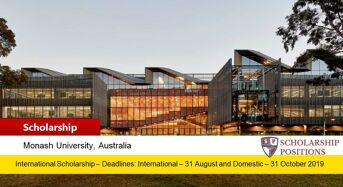 Monash Faculty Funded funding for International Students in Australia