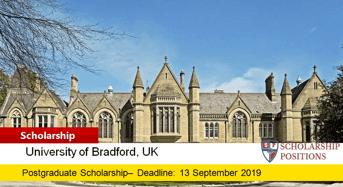 University of Bradford MSc Management International Scholarship in the UK, 2020