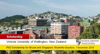 Victoria University ASEAN Scholarships for Brunei and Singapore in New Zealand
