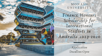 Finance Honours funding for International Students in Australia 2019-2020