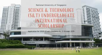 Science & Technology (S& T) Undergraduate International Scholarship at National University of Singapore, 2020