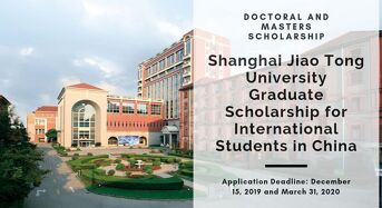 Shanghai Jiao Tong University Graduate funding for International Students in China