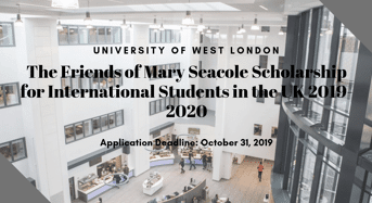 The Friends of Mary Seacole funding for International Students 2019-2020