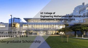 UC College of Engineering Mathematics and Statistics STAR International Scholarship, 2020