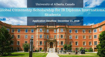 University of Alberta Global Citizenship funding for IB Diploma International Students