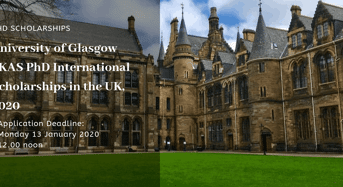 University of Glasgow LKAS PhD international awards in the UK, 2020