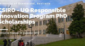University of Queensland CSIRO PhD Positionsfor International students in Australia
