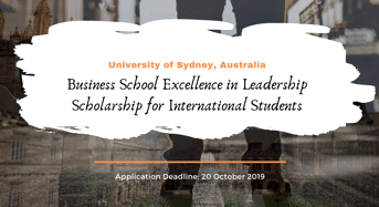University of Sydney Business School Excellence in Leadership funding for International Students