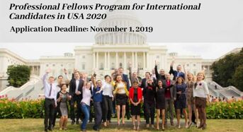 Professional Fellows Program for International Candidates in USA, 2020