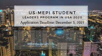 US-MEPI Student Leaders Program in USA 2020