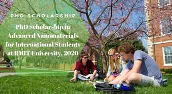 PhD Scholarship in Advanced Nanomaterials for International Students at RMIT University, 2020