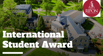 International Student Award at Ripon College, USA