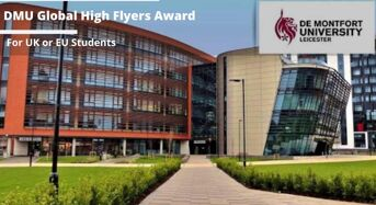 DMU Global High Flyers Award for UK and EU Students, 2020