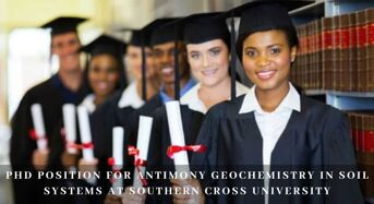 PhD Position for Antimony Geochemistry in Soil Systems at Southern Cross University