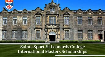 Saints Sport-StLeonards College International masters programmes at University of St Andrews, 2020