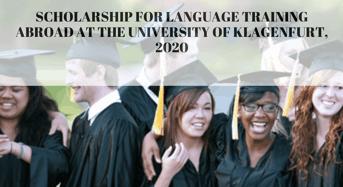 funding for language Training Abroad at the University of Klagenfurt, 2020