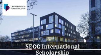 Portsmouth School of the Environment, Geography and Geosciences (SEGG) International Scholarship