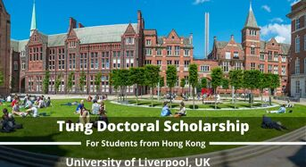 Tung Doctoral Scholarship at University of Liverpool, UK