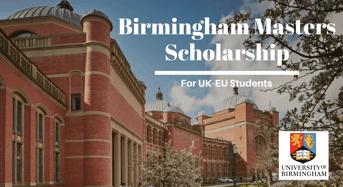 Birmingham Masters funding for UK-EU Students
