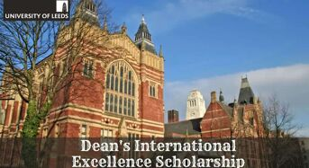 Dean's International Excellence Scholarship at University of Leeds in UK, 2020