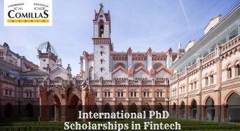 International PhD Positionsin Fintech at Comillas Pontifical University, Spain