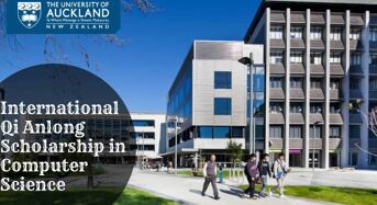 International Qi Anlong Scholarship in Computer Science at University of Auckland, 2020