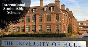 International Studentship Scheme at University of Hull in UK, 2020