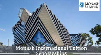 Monash International tuition grants (MITS) in Australia, 2020