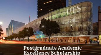 UTS Postgraduate Academic Excellence funding for International Students, 2020