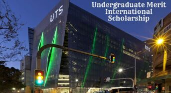 Undergraduate Merit International Scholarship at the University of Technology Sydney, 2020