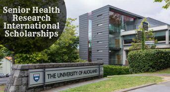 University of Auckland Senior Health Research international awards, 2020