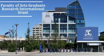 Faculty of Arts Graduate Research International Grant at University of Melbourne, 2020