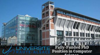 Fully-FundedPhD Position in Computer Science at University of Upper Alsace in France, 2020