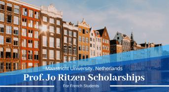 Maastricht UniversityProf Jo Ritzen Scholarships for French Students in the Netherlands