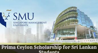 Prima Ceylon funding for Sri Lankan Students at Singapore Management University, 2020
