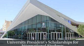 UniSA University President's Scholarships (UPS) for International Students in Australia, 2020