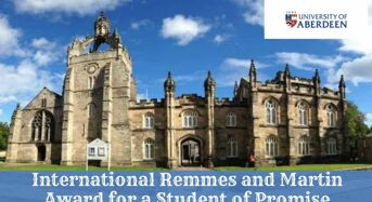 University of Aberdeen International Remmes and Martin Award for a Student of Promise, 2020