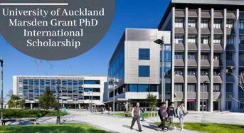 University of Auckland Marsden Grant PhD International Scholarship in Phylogenetic Biogeography, 2020