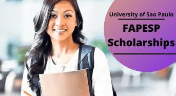 FAPESP Scholarships at University of Sao Paulo, Brazil