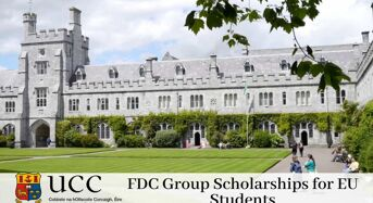 FDC Group Scholarships for EU Students at University College Cork in Ireland, 2020