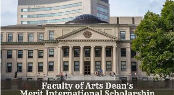 Faculty of Arts Dean's Merit International Scholarship at University of Ottawa in Canada, 2020
