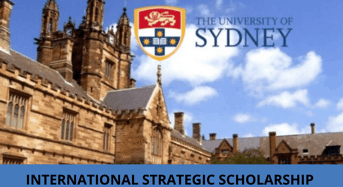 University of Sydney International Strategic Scholarship in Australia