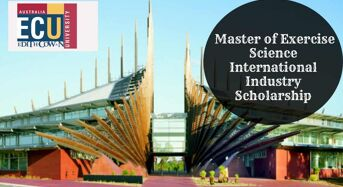 ECU Master of Exercise Science International Industry Scholarship in Australia, 2020