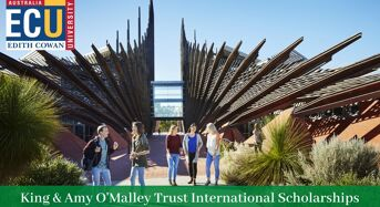 King & Amy O'MalleyTrust international awards at Edith Cowan University in Australia, 2020